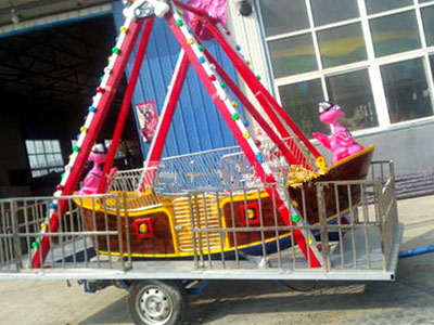Mobile mini pirate ship mini carnival rides