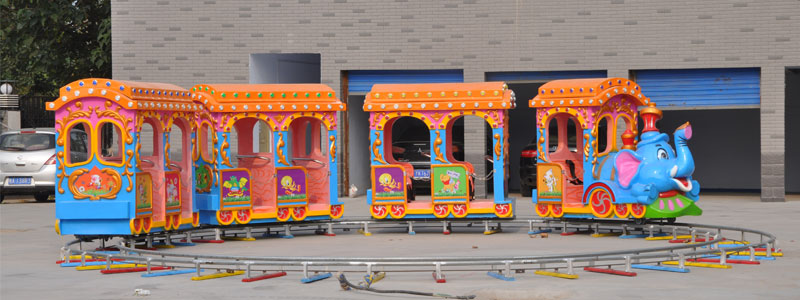 kid elephant track train ride manufacturer