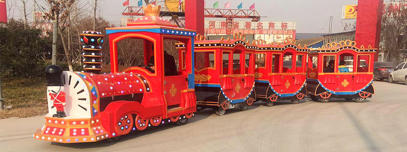 soldier trackless train ride manufacturer