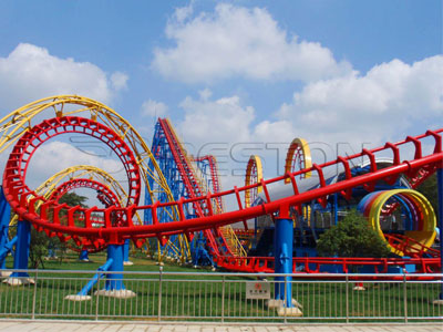 4-loop Roller Coaster ride manufactuere and supplier