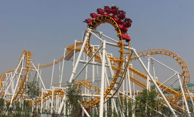 Suspended roller coaster ride manufacturer and supplier