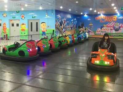 Electric Ground Grid Bumper Car Ride For Sale