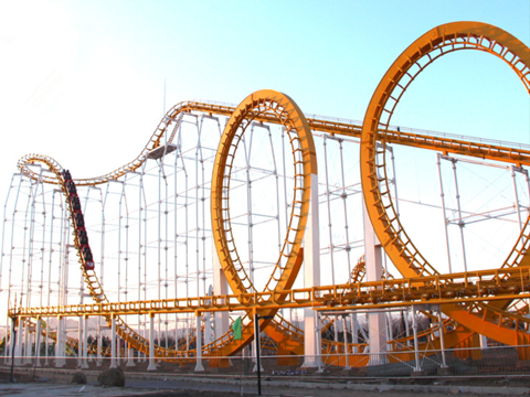 steel roller coaster for sale