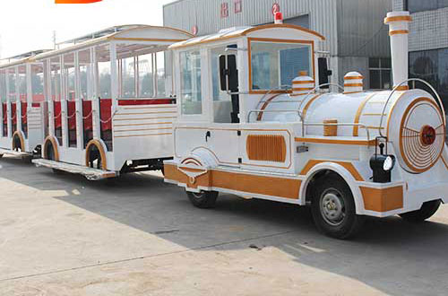 Cheap tourist trackless train