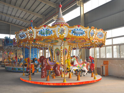 16 seats merry go round ride manufacturee