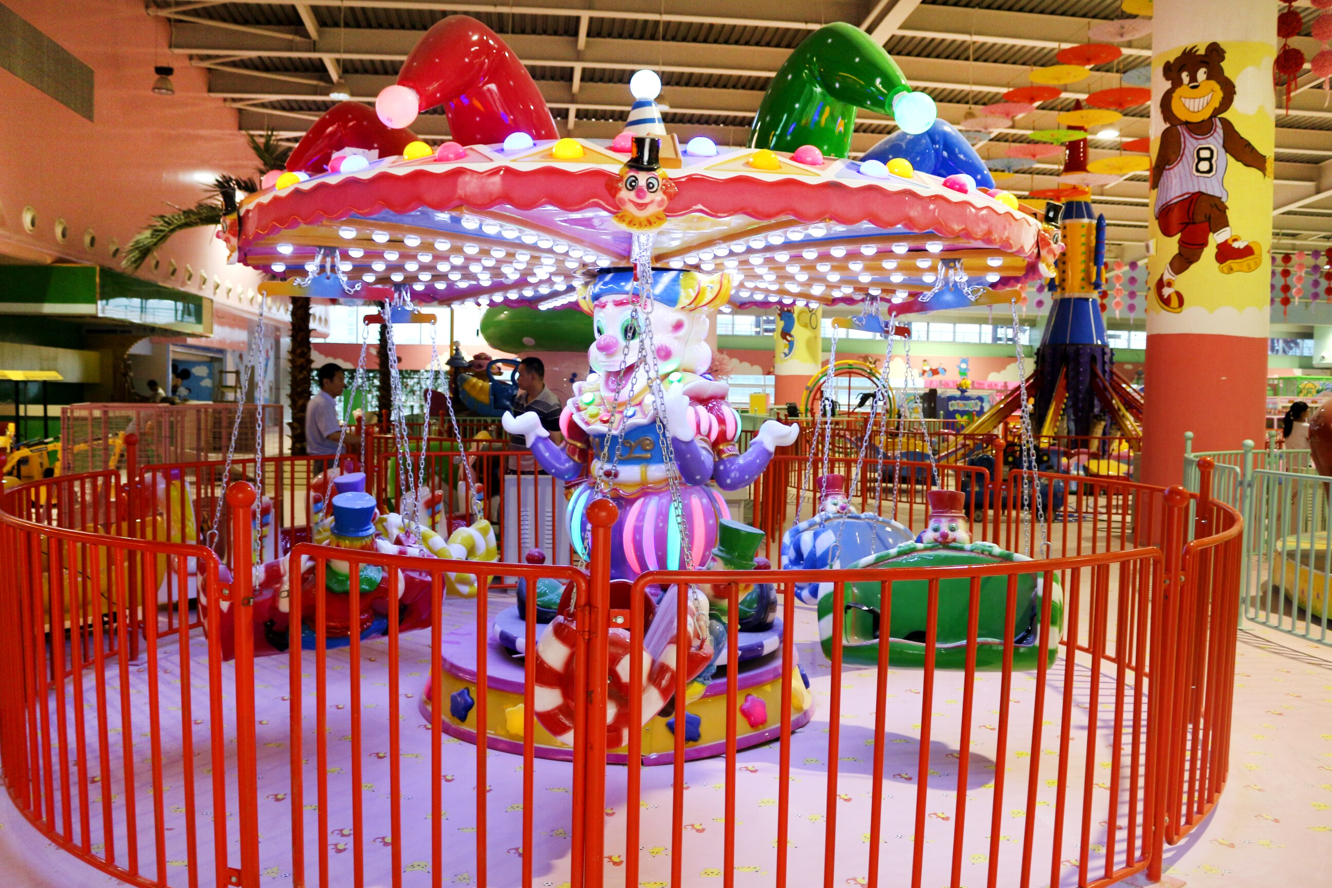 clown flying chair ride for sale 01