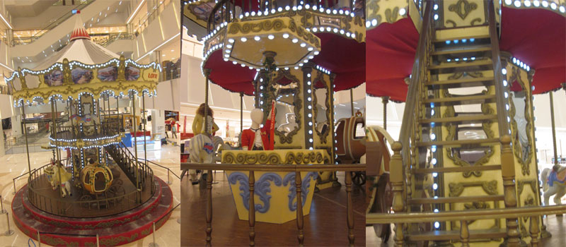 double decker carousel ride supplier for sale