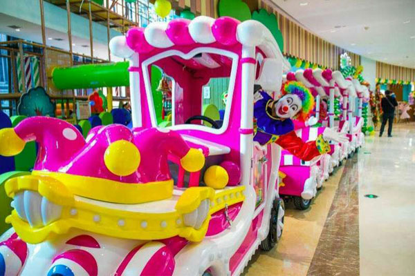 Clown track train ride for sale 01