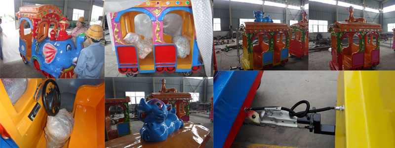 Elephant trackless train ride supplier
