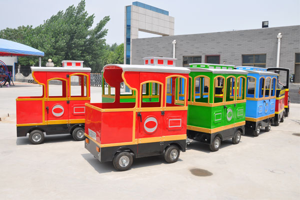 Smile trackless train ride for sale