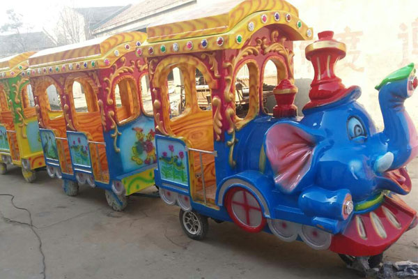 elephant trackless train ride for sale 01