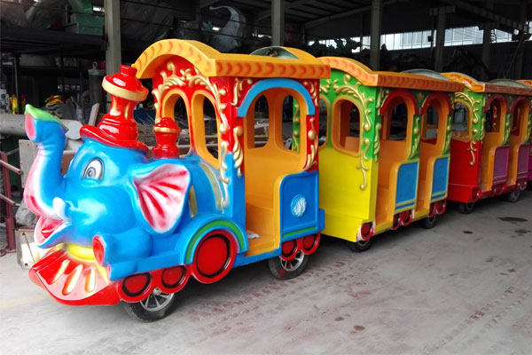 elephant trackless train ride for sale 02