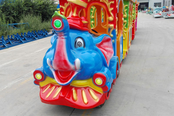 elephant trackless train ride for sale 03