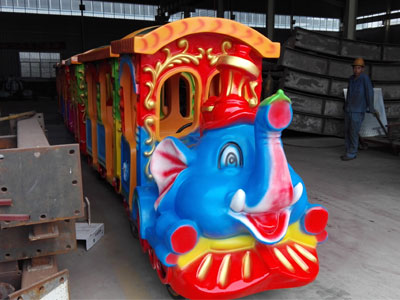 elephant trackless train ride for sale 04