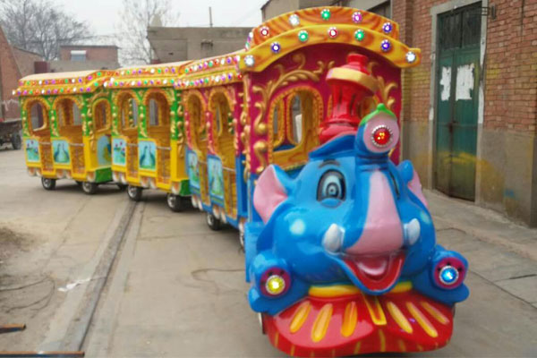 elephant trackless train ride for sale