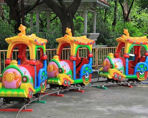 kid cartoon track train ride for sale