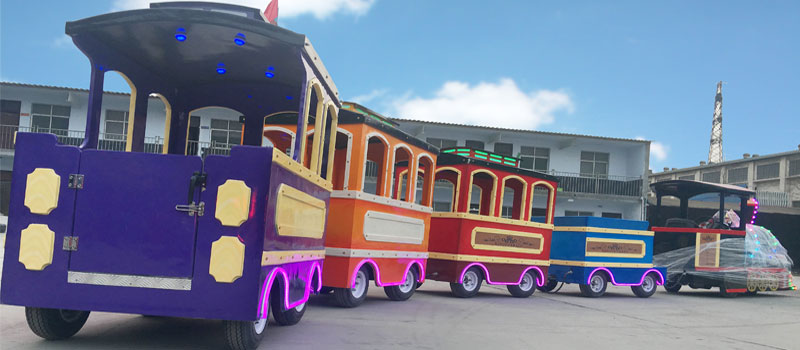 royal trackless train ride manufacturer