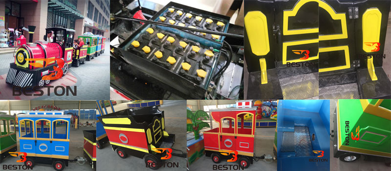 smile trackless train ride supplier