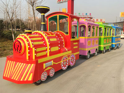 vintage trackless train ride for sale 01