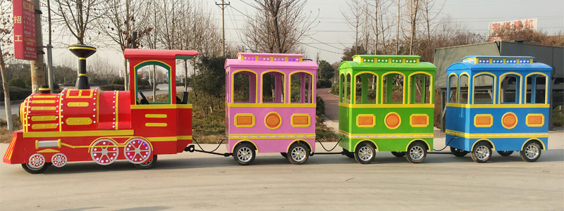 vintage trackless train ride manufacturer