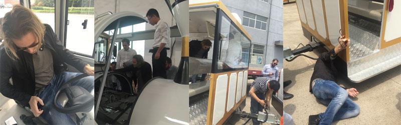 white tourist train ride for sale