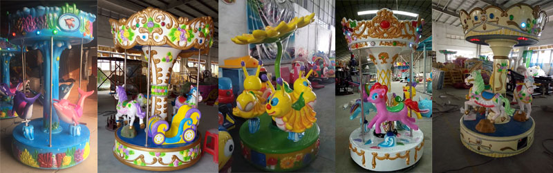 3 seats small carousel ride for sale