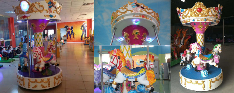 3 seats small carousel ride manufacturer