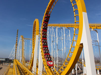 6 loop roller coaster ride for sale 01