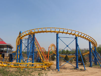 6 loop roller coaster ride for sale 02