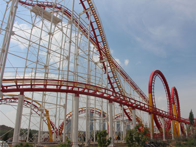 6 loop roller coaster ride for sale 03