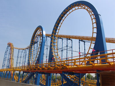 6 loop roller coaster ride for sale 04