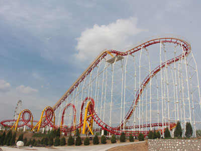 6 loop roller coaster ride for sale 05