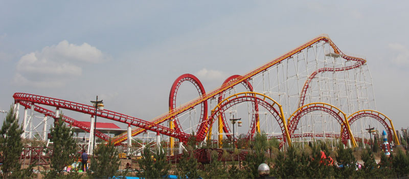 6 loop roller coaster ride manufacturer and supplier