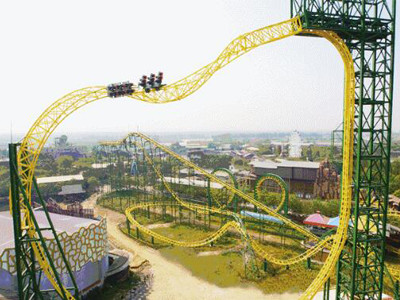 Magic ring roller coaster ride