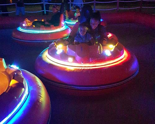 inflatable bumper car from Nigeria Client