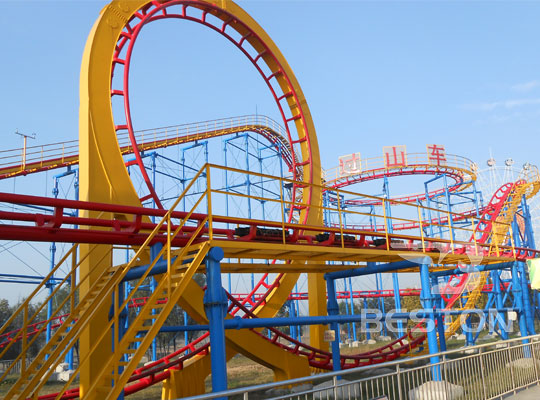 three loop roller coaster for sale