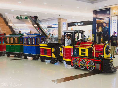 shopping mall trackless train costs
