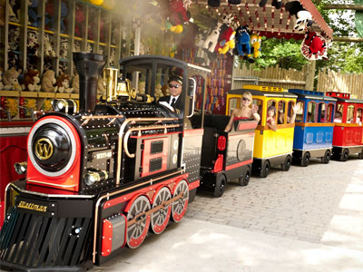 shopping mall trackless train price