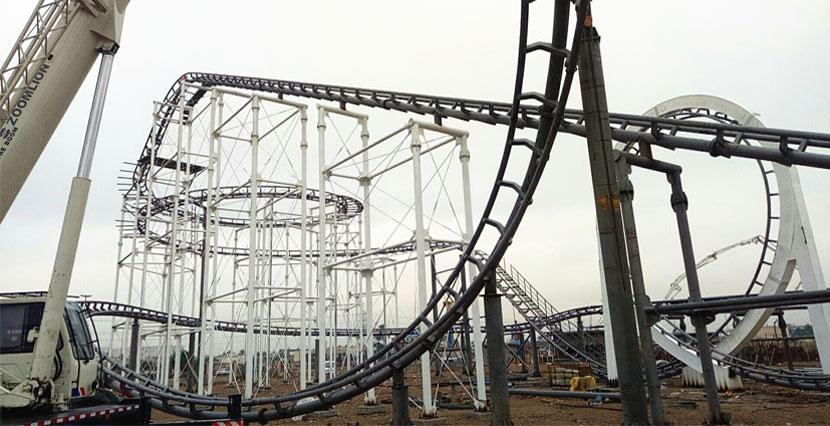 Beston 3 loop roller coaster ride for sale