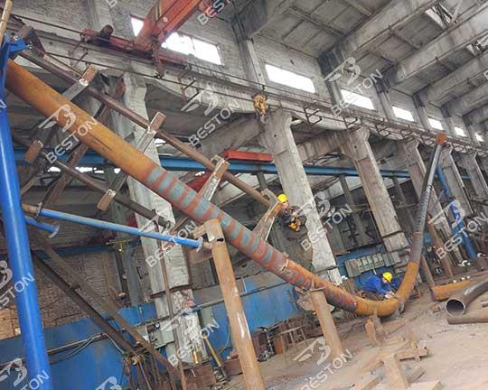 Beston roller coaster ride in Factory