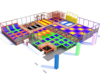 indoor trampoline park equimpent