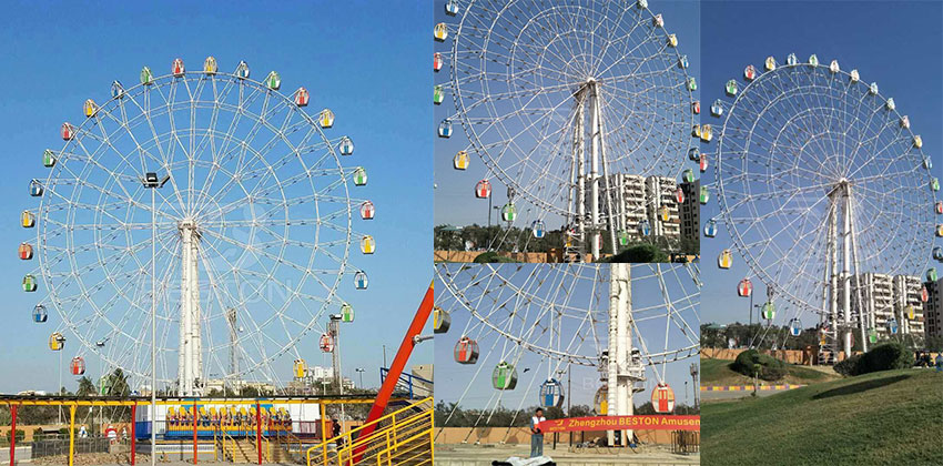 Beston 50 m ferris wheel ride Installation in Pakistan