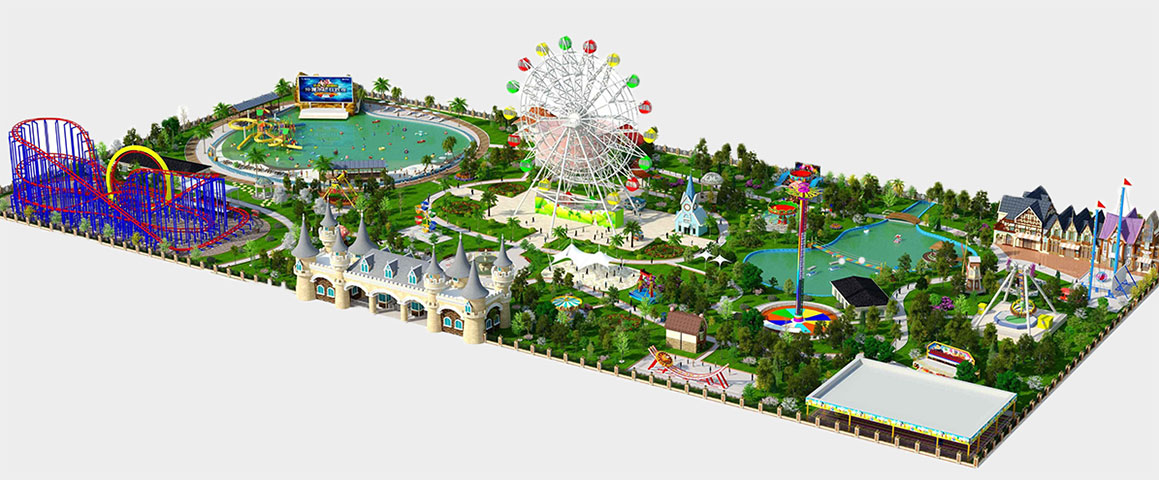 3D amusement park project design