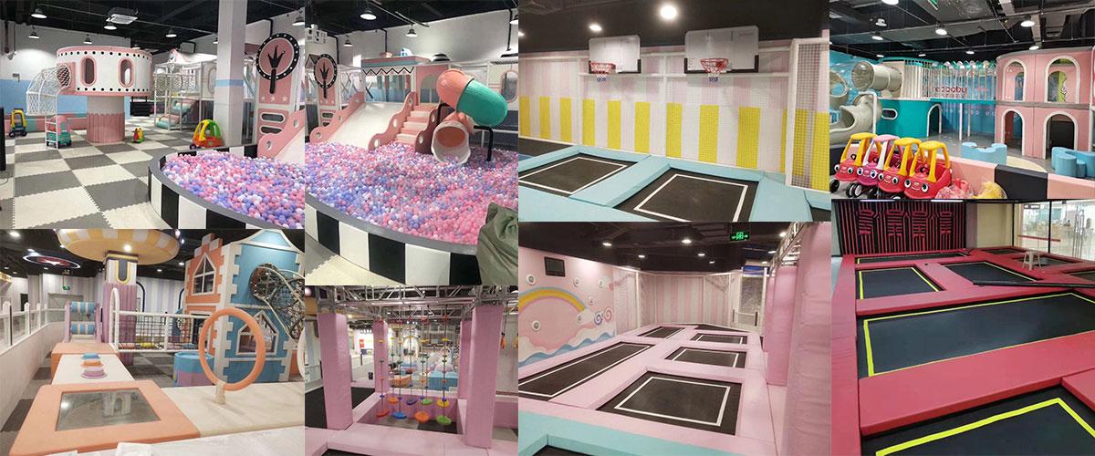 Children Soft indoor playground Equipment Suppliers with trampoline