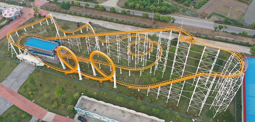 Beston 3-Loop Roller Coaster manufacturer