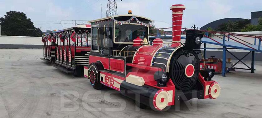 Beston Diesel Trackless Train For Sale
