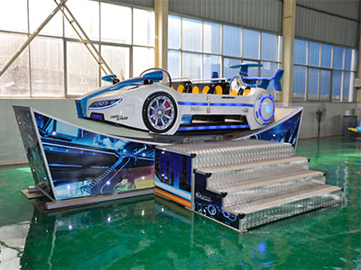 Happy flying car rides factory